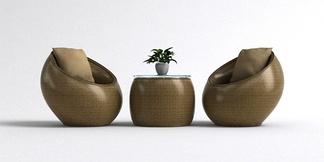 中式单椅组合