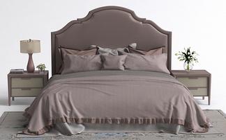 美式床头柜女儿床组合