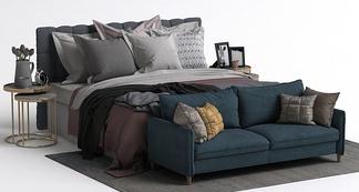 现代沙发床组合