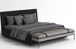 现代简约床尾凳床组合