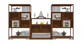 中式博古架柜
