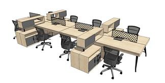 职员桌组合