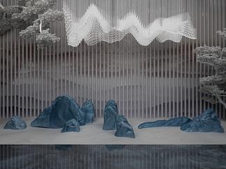 新中式山水雕塑