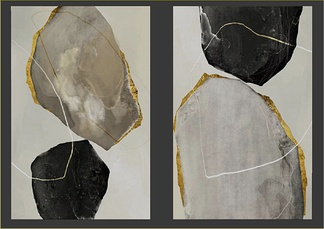 现代装饰画挂画组合3d模型