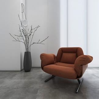 巴西Etel0011现代咖啡色单人沙发椅