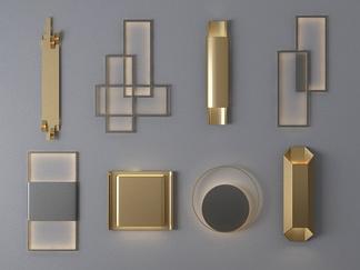 后现代金属壁灯组合