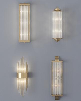 现代轻奢水晶壁灯组合