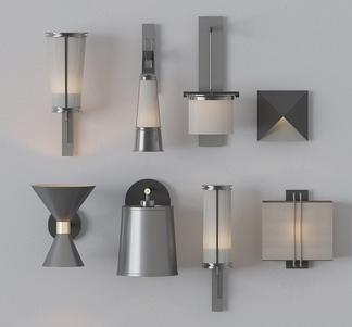 现代风格金属壁灯组合