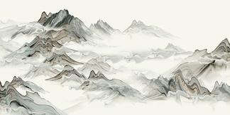 中式山水画