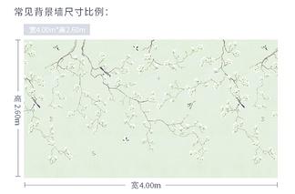 中式花鸟墙纸贴图常见尺寸