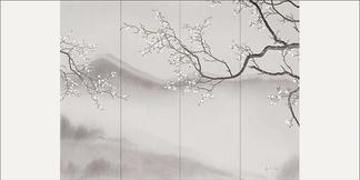 中式水墨拼接背景墙