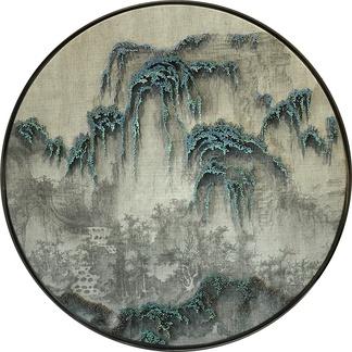 中式山水挂画贴图