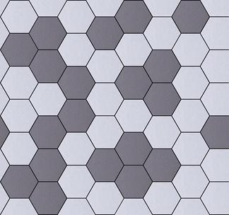 地面六角形拼花