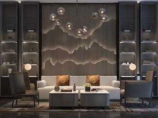现代中式风格茶室