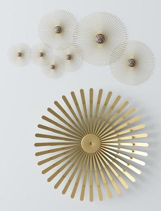 现代金属墙饰3D模型