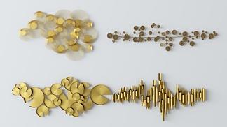 现代金属墙饰组合3D模型