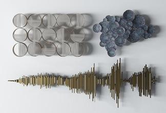 现代金属墙饰