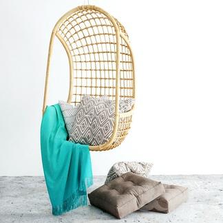 现代竹编休闲吊椅