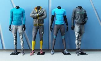 现代服装店模特运动服饰