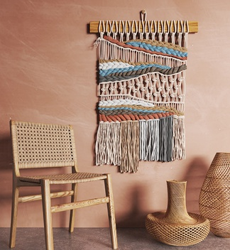 手工编织墙饰编织物品编织椅子