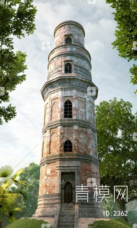 西方古建高塔