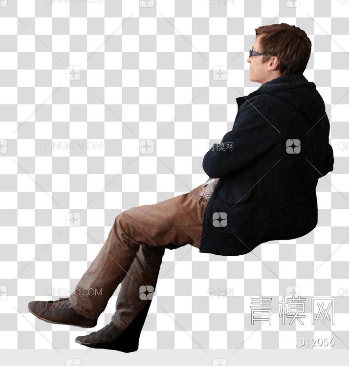 男人坐姿_侧面平视男人的坐姿 后期素材 PNG黑大尺寸侧面平视男人的坐姿 ...
