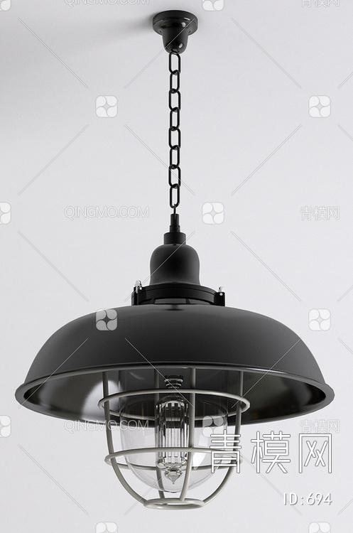 黑色铁艺吊灯