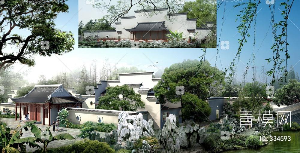 ZKH#中式古建筑(古建3)古建筑30804 风格建筑 古建 105