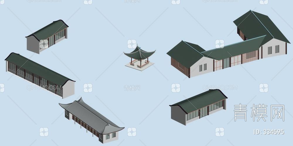 ZKH#中式古建筑(古建3)古建筑30804 风格建筑 古建 65