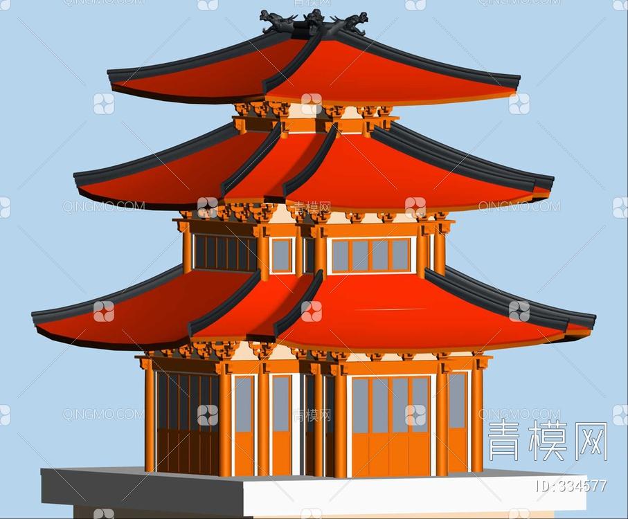 ZKH#中式古建筑(古建3)古建筑30804 风格建筑 古建 61