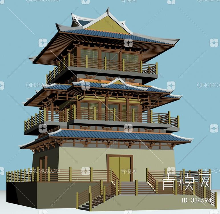 ZKH#中式古建筑(古建3)古建筑30804 风格建筑 古建 05