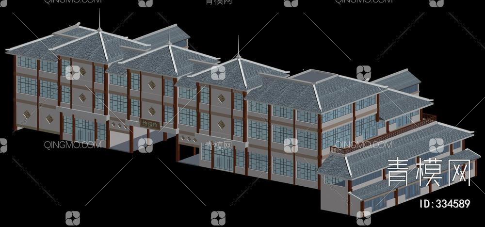 ZKH#中式古建筑(古建3)古建筑30804 风格建筑 古建 76