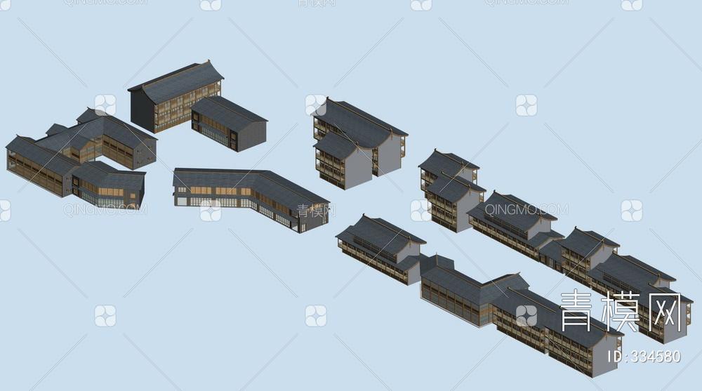 ZKH#中式古建筑(古建3)古建筑30804 风格建筑 古建 66