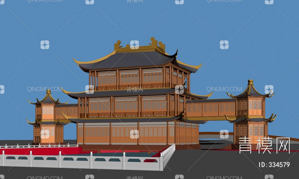 ZKH#中式古建筑(古建3)古建筑30804 风格建筑 古建 62