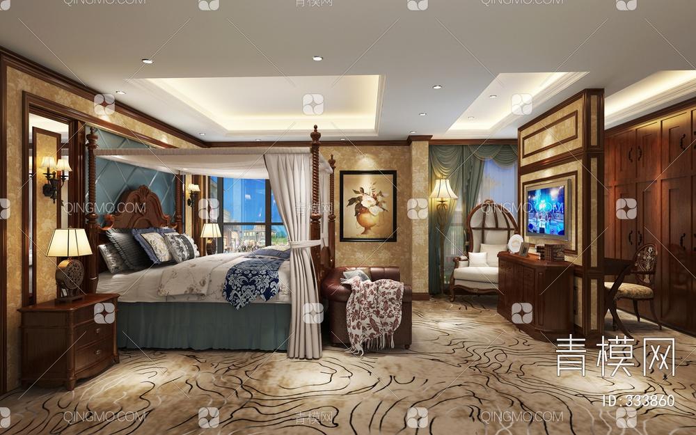 卧室空间  美式风格