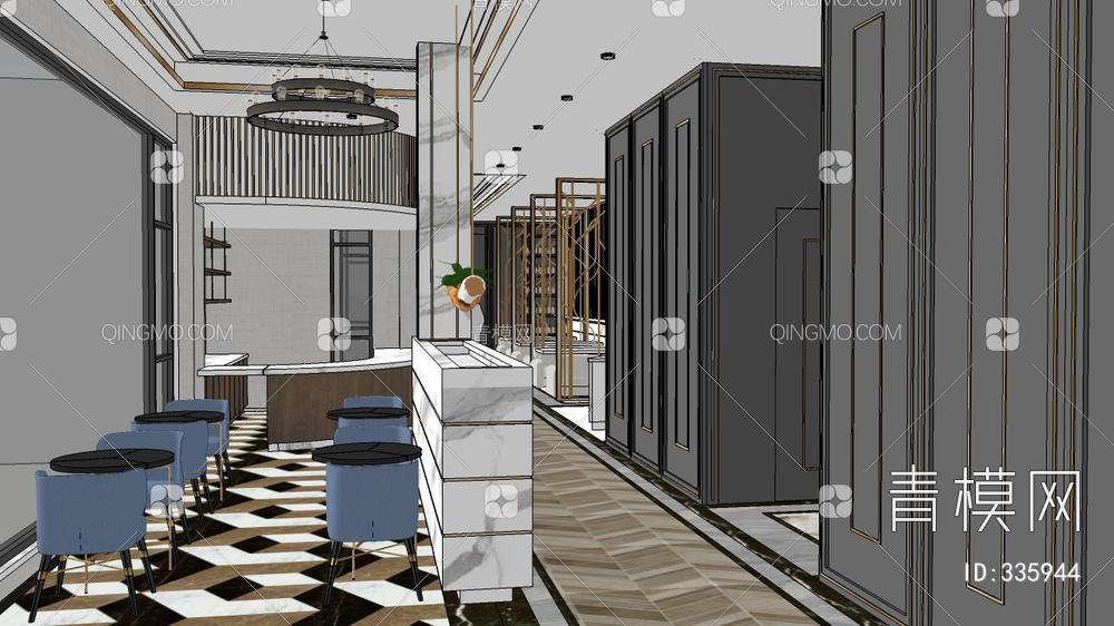 酒店工装轻奢整体模型