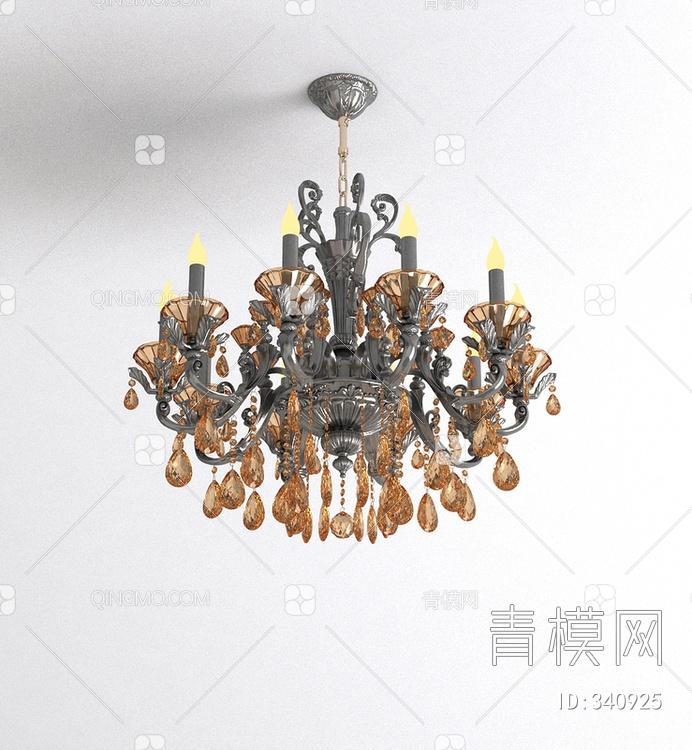 欧式水晶烛头吊灯