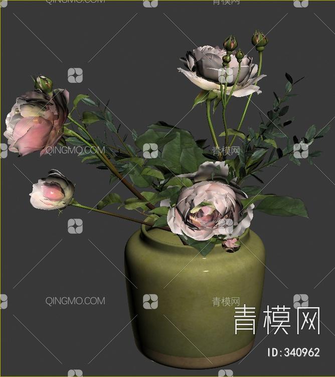 插花瓷器花瓶