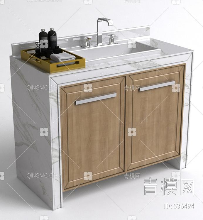 中式简约洗手台