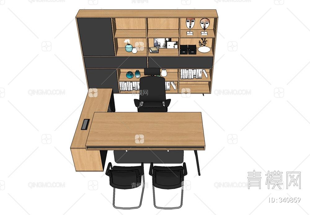 主管办公桌书柜组合