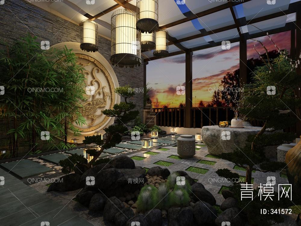 中式阳光植物房