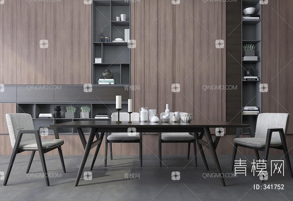 现代中式餐桌椅组合