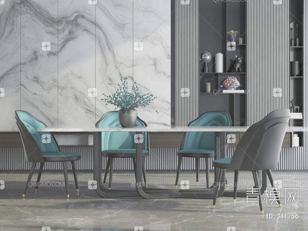 新中式餐餐桌椅组合