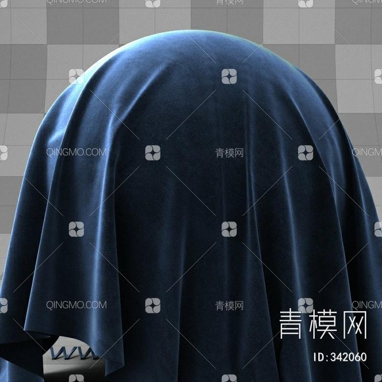 蓝色绒布带衰减