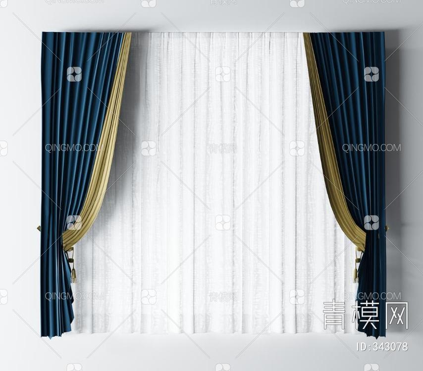 现代布艺窗帘