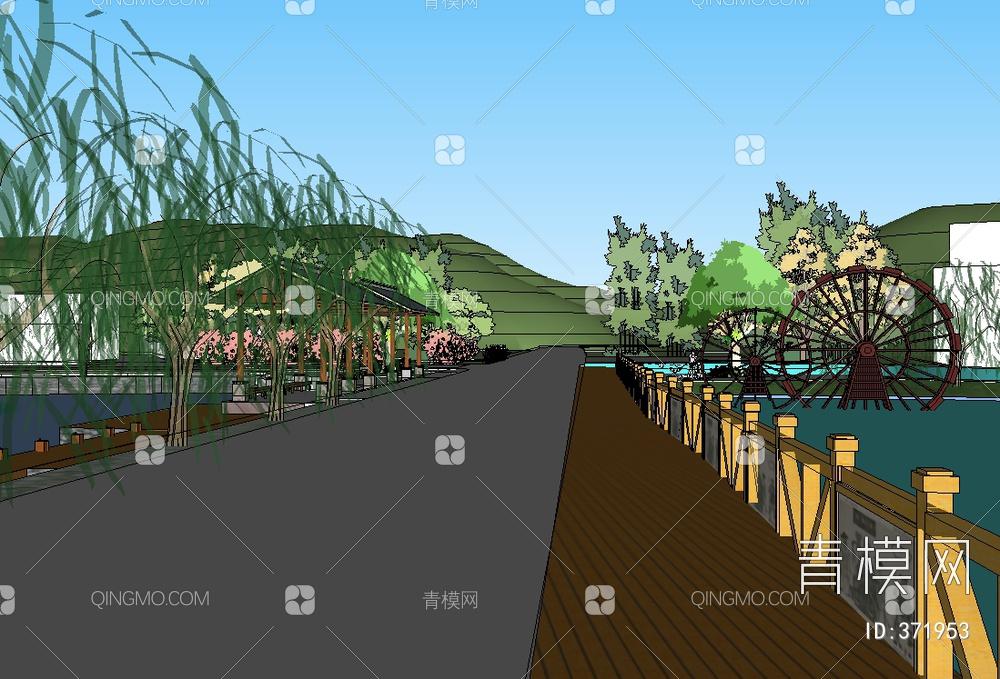 新中式公园场景