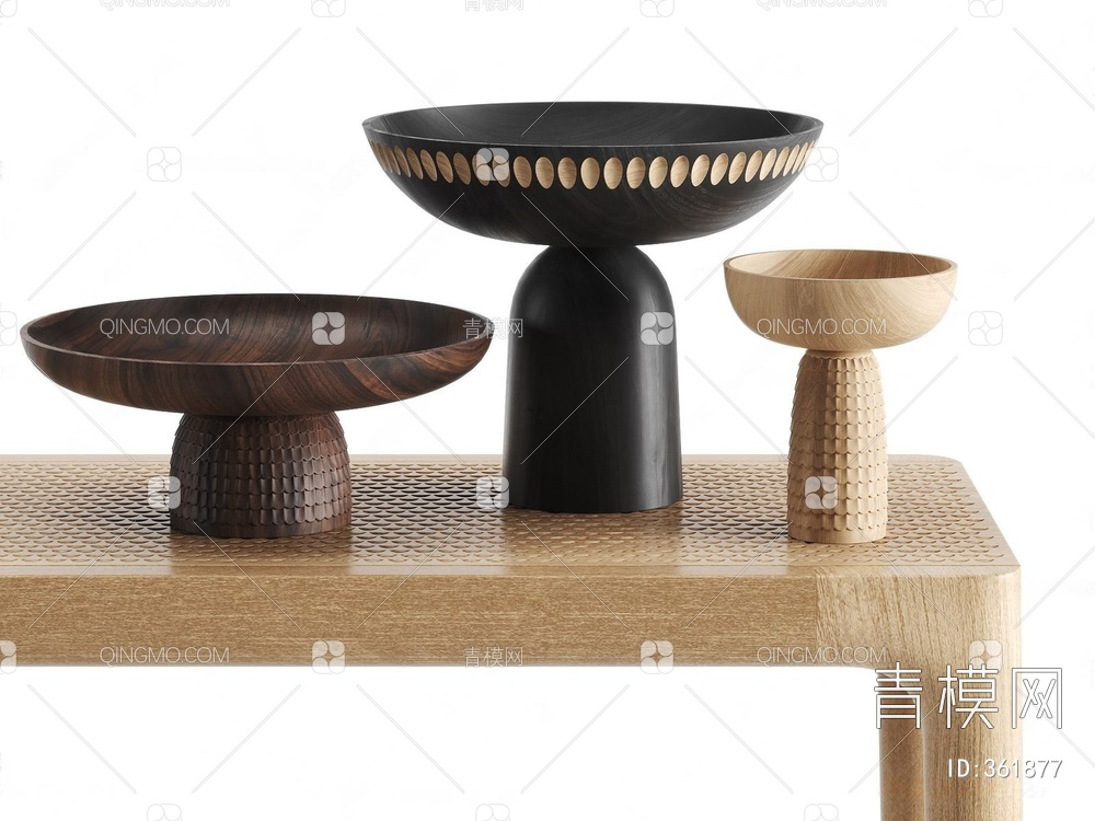 新中式实木雕刻器皿